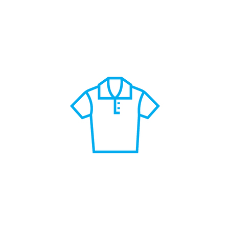 Polo shirt vector thin line stroke icon. Polo shirt outline illustration, linear sign, symbol isolated concept.