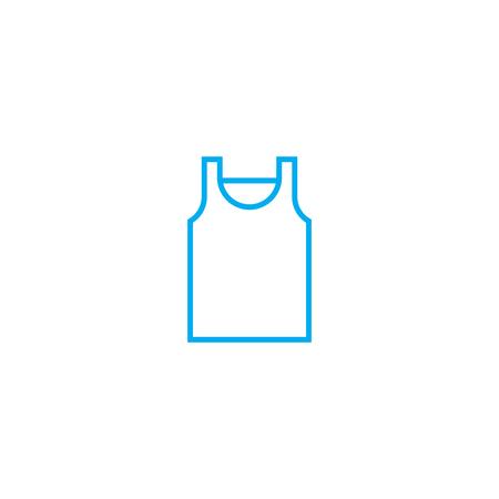 Icono de trazo de delgada línea de vector de jersey de dormir. Ilustración de esbozo de jersey para dormir, signo lineal, concepto aislado de símbolo.