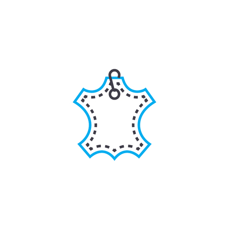 Tag from clothes vector thin line stroke icon. Tag from clothes outline illustration, linear sign, symbol isolated concept.