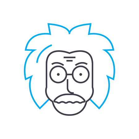 Science representative vector thin line stroke icon. Science representative outline illustration, linear sign, symbol isolated concept.  イラスト・ベクター素材