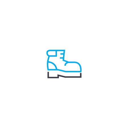Winter boots vector thin line stroke icon. Winter boots outline illustration, linear sign, symbol isolated concept. Archivio Fotografico - 101255602