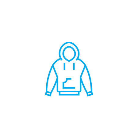 Winter clothes vector thin line stroke icon. Winter clothes outline illustration, linear sign, symbol isolated concept.