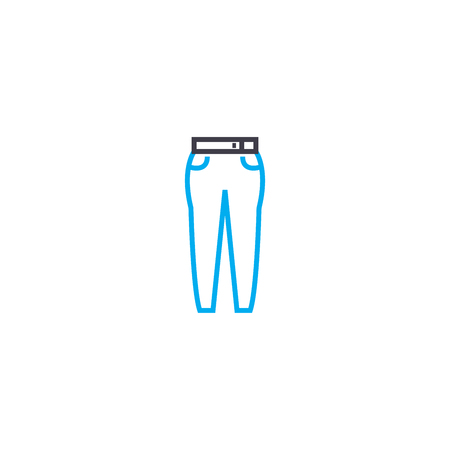 Womens pants vector thin line stroke icon. Womens pants outline illustration, linear sign, symbol isolated concept.
