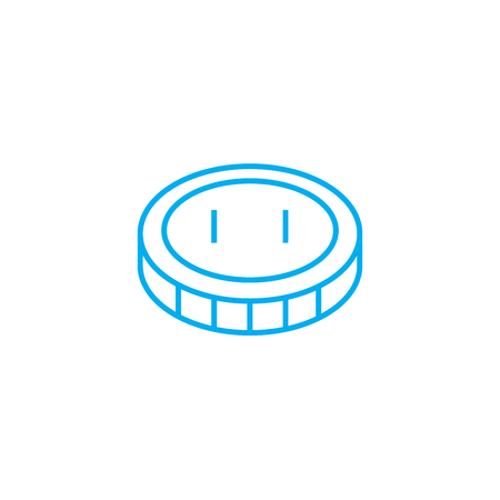 Monetary policy 70 vector thin line stroke icon. Monetary policy 70 outline illustration, linear sign, symbol isolated concept.