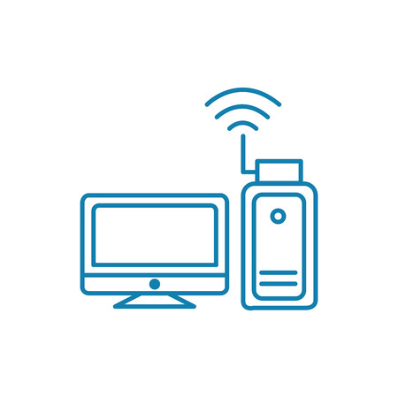 Access point line icon, vector illustration. Access point linear concept sign.