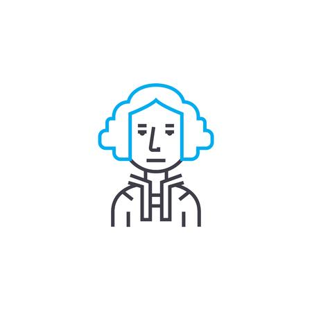 Aristocrat line icon, vector illustration. Aristocrat linear concept sign.
