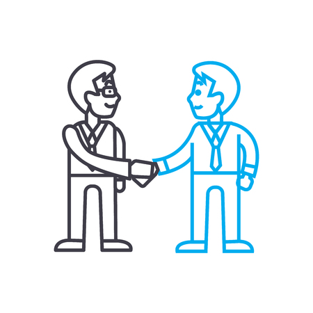 Arrangement of agreement line icon, vector illustration. Arrangement of agreement linear concept sign. Illustration