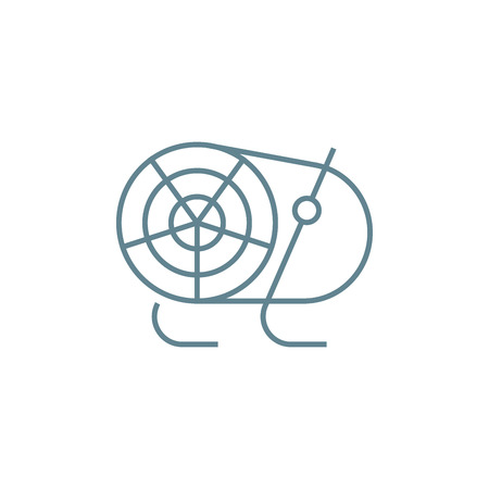 Air heater line icon, vector illustration. Air heater linear concept sign.