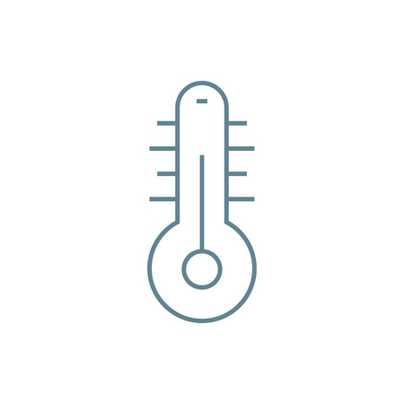 Air temperature line icon, vector illustration. Air temperature linear concept sign.
