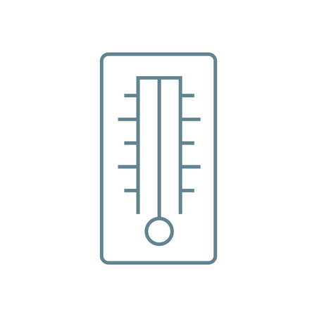 Air temperature indicator line icon, vector illustration. Air temperature indicator linear concept sign.