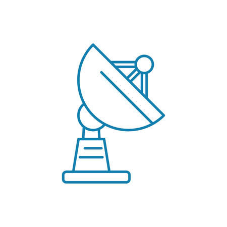 Base station line icon, vector illustration. Base station linear concept sign.