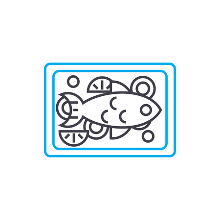 Baked turkey line icon, vector illustration. Baked turkey linear concept sign.  イラスト・ベクター素材