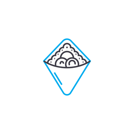 Berry pie line icon, vector illustration. Berry pie linear concept sign. Illustration
