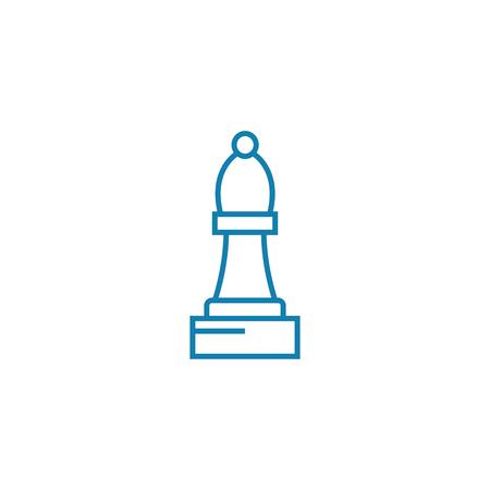 Bishop line icon, vector illustration. Bishop linear concept sign. Imagens - 101937690