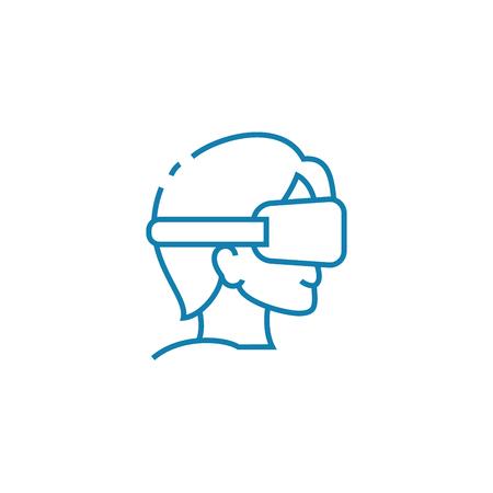 Blindfold games line icon, vector illustration. Blindfold games linear concept sign.