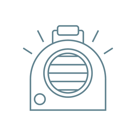 Autonomous heater line icon, vector illustration. Autonomous heater linear concept sign.