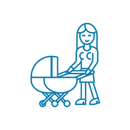 Baby care line icon, vector illustration. Baby care linear concept sign. Illustration