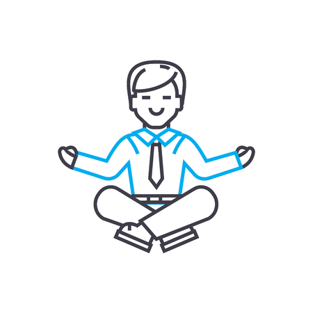 Achieving balance line icon, vector illustration. Achieving balance linear concept sign.