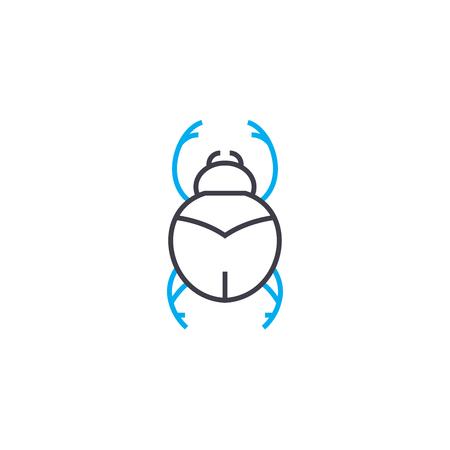 Beetle line icon, vector illustration. Beetle linear concept sign. Illustration