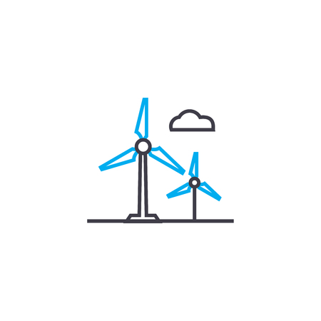 Alternative energy sources line icon, vector illustration. Alternative energy sources linear concept sign. Ilustração