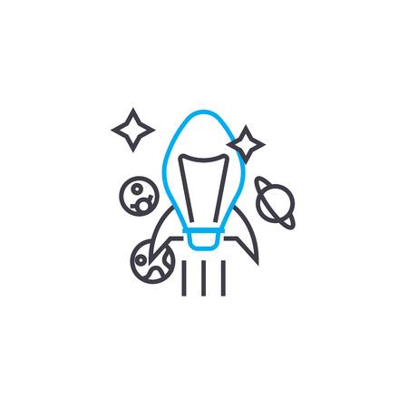 Ambitious goals line icon, vector illustration. Ambitious goals linear concept sign. Illustration