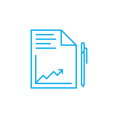 Analytical report line icon, vector illustration. Analytical report linear concept sign.