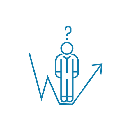 Analytical work line icon, vector illustration. Analytical work linear concept sign.