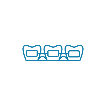 Brackets line icon, vector illustration. Brackets linear concept sign.
