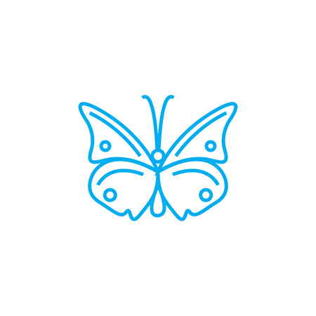 Butterfly line icon, vector illustration. Butterfly linear concept sign.