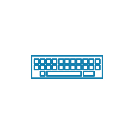 Button panel line icon, vector illustration. Button panel linear concept sign.