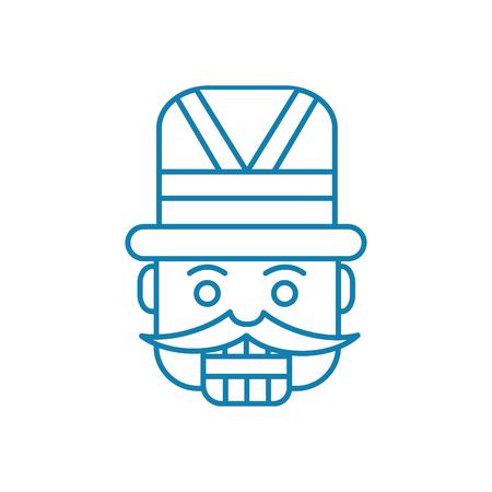 Carnival costume line icon, vector illustration. Carnival costume linear concept sign. Stock Illustratie