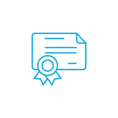 Cash cheque line icon, vector illustration. Cash cheque linear concept sign.