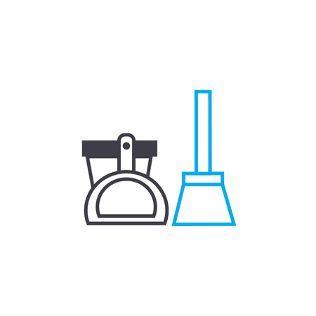 Cleaning equipment line icon, vector illustration. Cleaning equipment linear concept sign.
