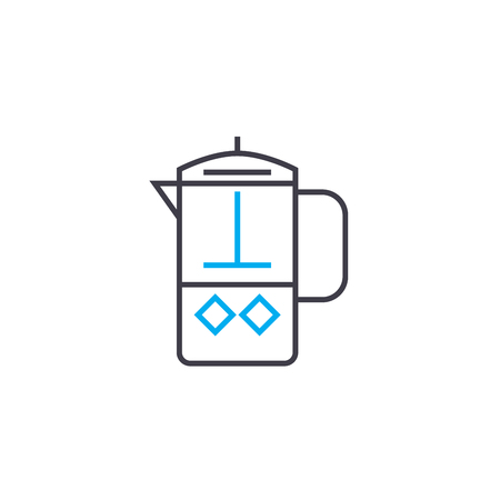 Coffee pot line icon, vector illustration. Coffee pot linear concept sign.
