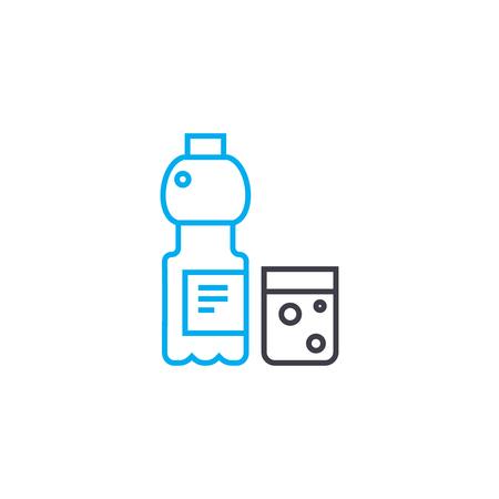 Cold drinks line icon, vector illustration. Cold drinks linear concept sign. Standard-Bild - 101955114
