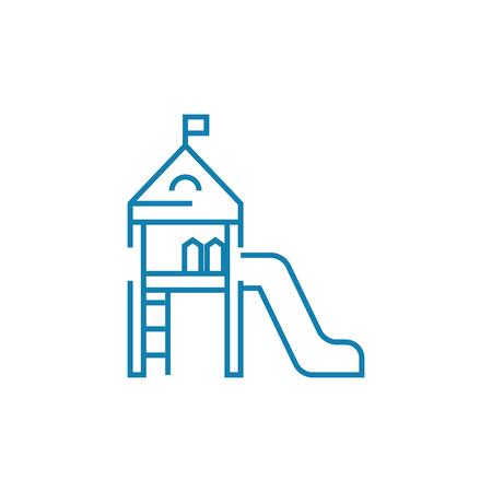 Childrens slide line icon, vector illustration. Childrens slide linear concept sign. Ilustracja