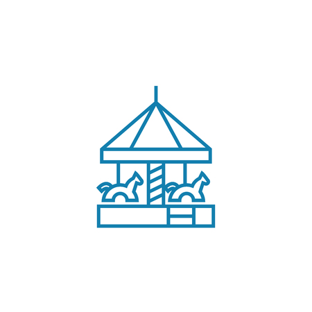 Childrens park line icon, vector illustration. Childrens park linear concept sign. Stock Illustratie
