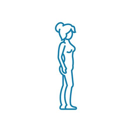 Comprehensive examination line icon, vector illustration. Comprehensive examination linear concept sign.
