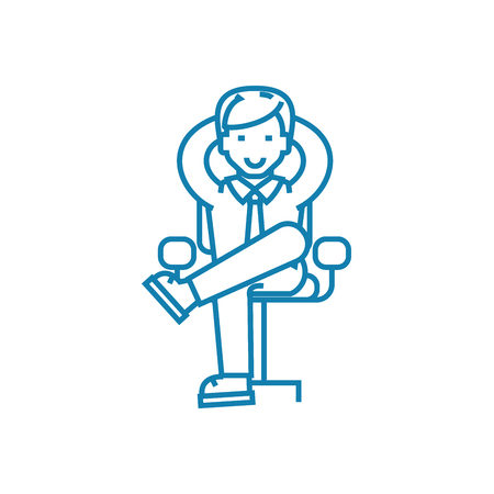 Clerk line icon, vector illustration. Clerk linear concept sign.