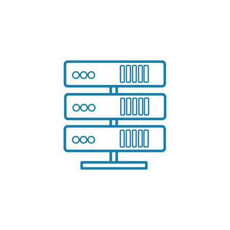 Computer server line icon, vector illustration. Computer server linear concept sign. Illustration