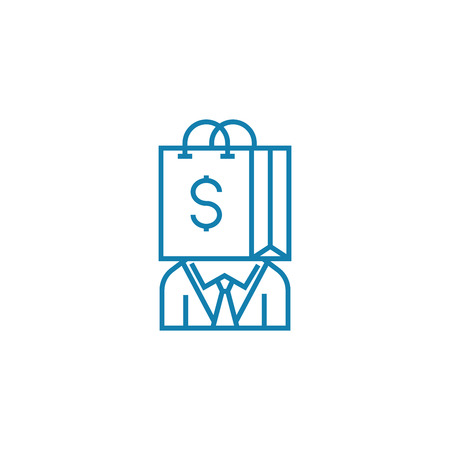 Consumer line icon, vector illustration. Consumer linear concept sign. Stock Vector - 101965929