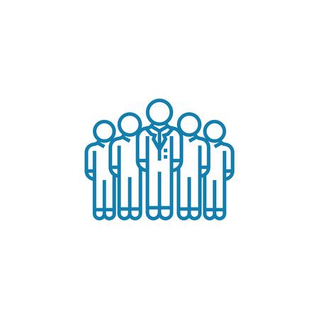 Corporate department line icon, vector illustration. Corporate department linear concept sign.