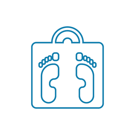 Controlling body weight line icon, vector illustration. Controlling body weight linear concept sign.