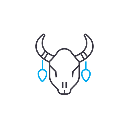 Corrida line icon, vector illustration. Corrida linear concept sign.