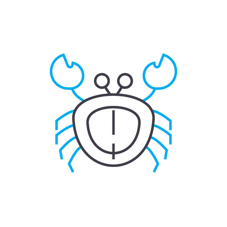 Crab line icon, vector illustration. Crab linear concept sign. Ilustrace