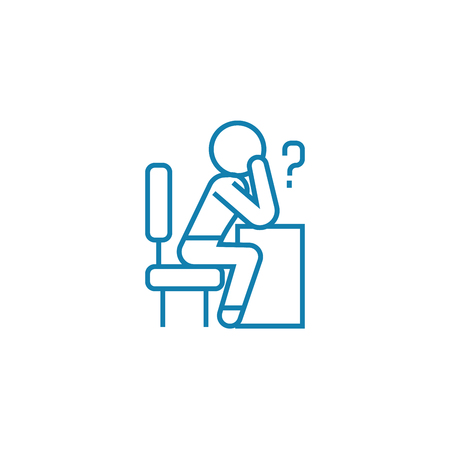 Decision-making line icon, vector illustration. Decision-making linear concept sign. Çizim