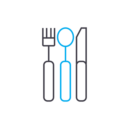 Cutlery line icon, vector illustration. Cutlery linear concept sign.