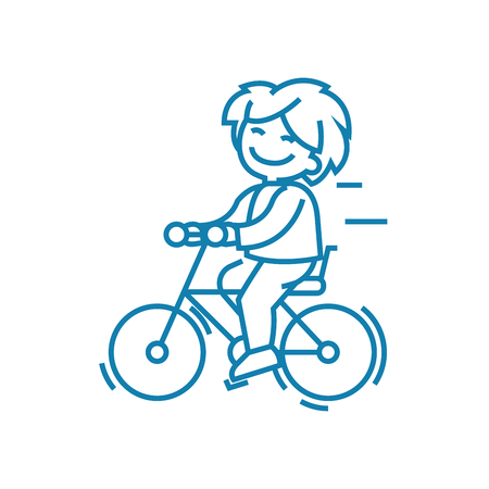 Cycling trips line icon, vector illustration. Cycling trips linear concept sign.