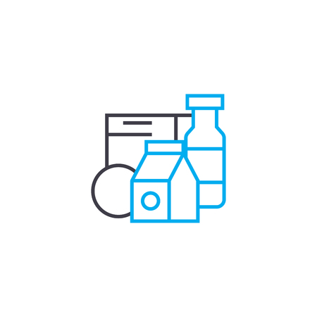 Dairy line icon, vector illustration. Dairy linear concept sign.
