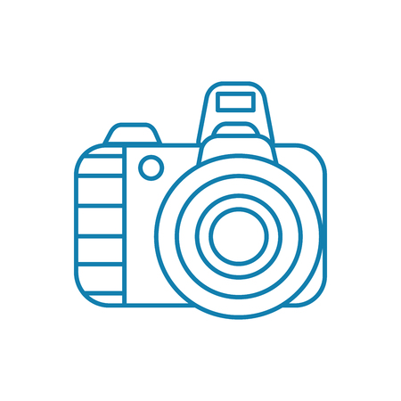 Digital camera line icon, vector illustration. Digital camera linear concept sign. Illustration